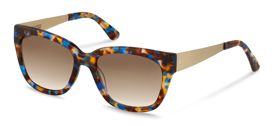 Claudia Schiffer by Rodenstock-Sonnenbrille-C3009-blue brown havana/light gold