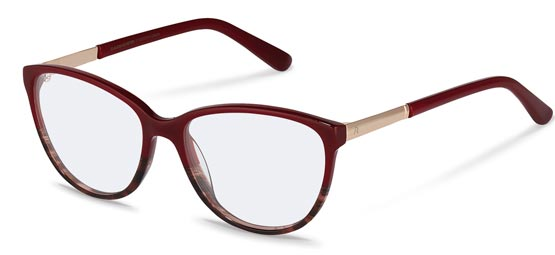 Claudia Schiffer by Rodenstock-Korrektionsfassung-C4016-red structured, rose gold