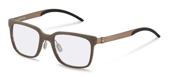 Mercedes-Benz Style-Korrektionsfassung-M4017-light brown structured brushed, copper